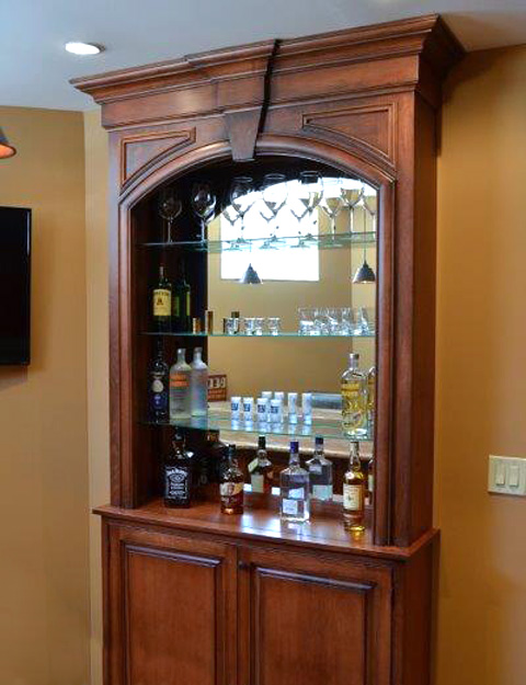 Custom built in cabinets passaic county nj bergen sussex for Custom built cabinets